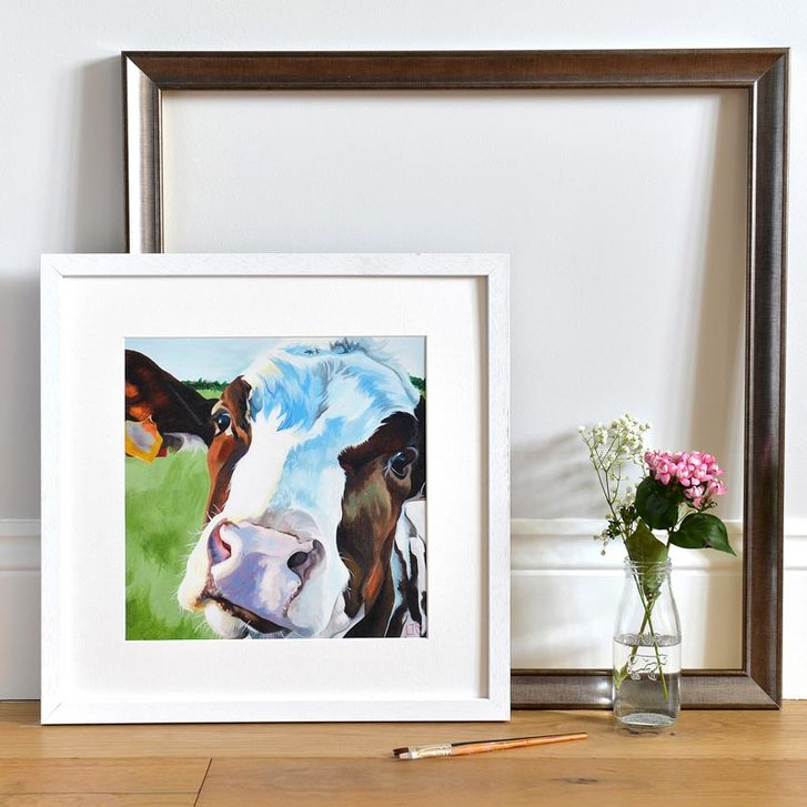 Open Edition Print of Dairy cow by Lauren's Cows