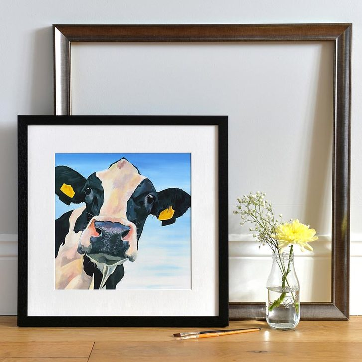 Curious Dairy Cow painting by Lauren's Cows