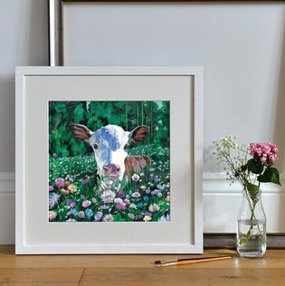 Open Edition art print of a Hereford Calf