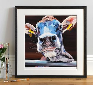 Jersey Cow limited edition print 'Jody'