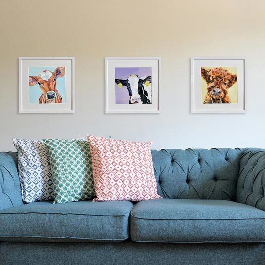 contemporary cow prints