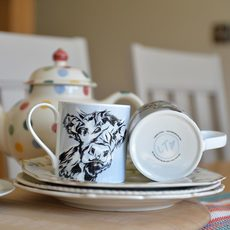 'Alfie' Bone China Mug with Highland Calf