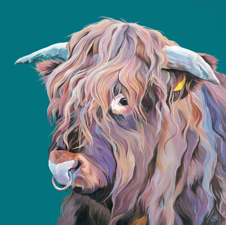 Open edition print of Highland Cow Archie, featured on Countryfile