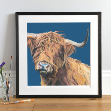Highland Cow 'Merida' by Lauren Terry