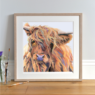 Windy Day Highland Cow