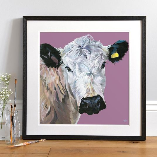 British White art print by Lauren's Cows