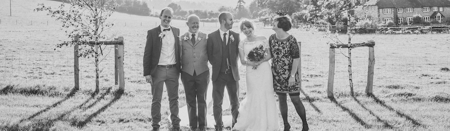 Lauren's family at her Wedding