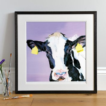 Minnie - Colourful Friesian Calf by Lauren's Cows