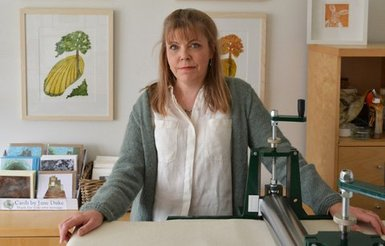 Jane Duke in her studio