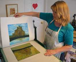 Print maker Jane Duke