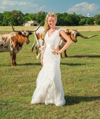 A Bride with Texas Longhorns