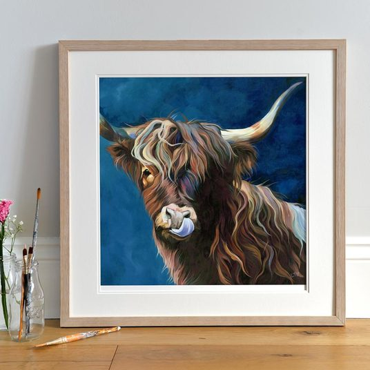 Friendly Highland Cow Print