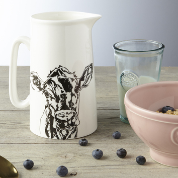 Jersey Cow Milk Jug by Lauren Terry
