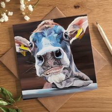 Jody, Colourful Cow Art Card
