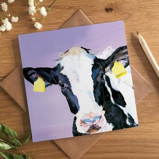 Dairy Cow Birthday Card
