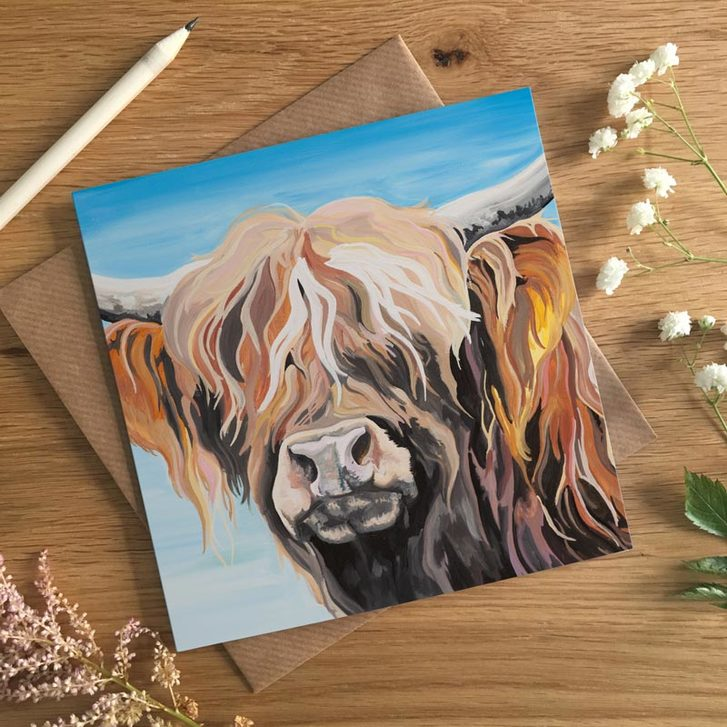 Hamish, Multicoloured Highland Cow by Lauren's Cows