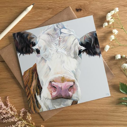 Hereford Cow Card for Farmers