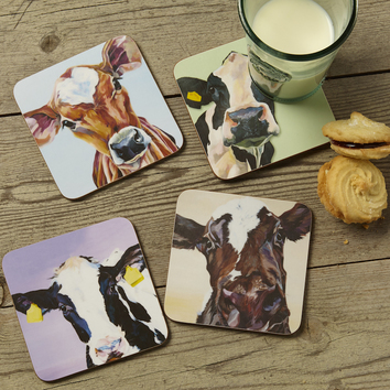 Dairy Coasters by Lauren's Cows