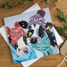 Daisy It's Cold Outside, Cow Christmas Card by Lauren's Cows