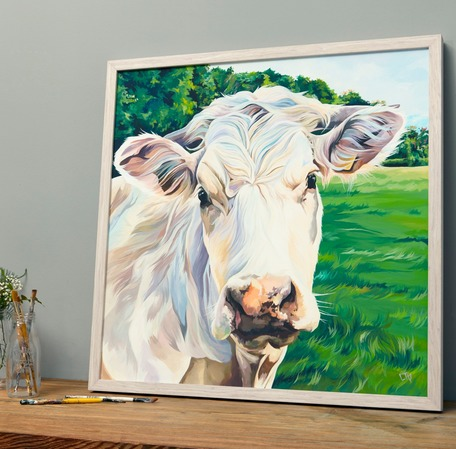 Beef Cow Painting by Lauren Terry