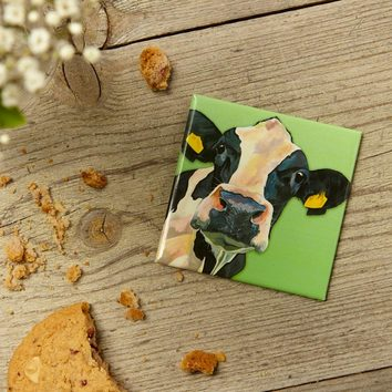 Dairy Cow magnet by Lauren's Cows