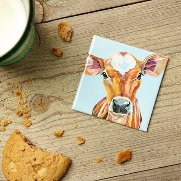 Juliet, Jersey Cow magnet by Lauren Terry