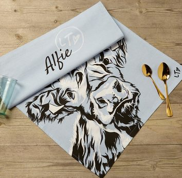 Alfie - Highland Calf dish towel by Lauren's Cows