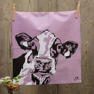 'Molly' Cotton, Dairy Cow, Tea Towel