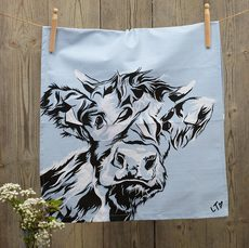 Highland Calf Dish Towel by Lauren's Cows