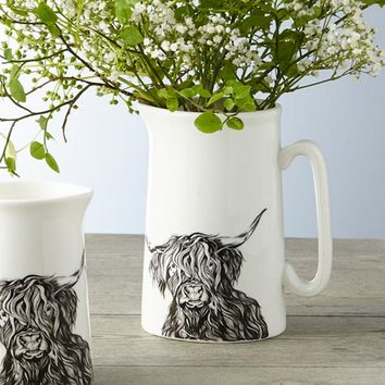 Delilah Highland Cow creamer by Lauren's Cows