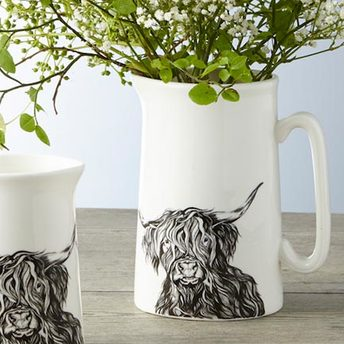 Highland Cow Pitcher by Lauren's Cows