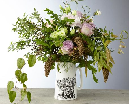 Highland Cow Flower Jug