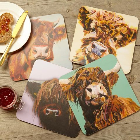 Highland Cow Table Mat Set