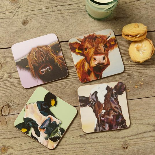 Cattle Coasters set of 4