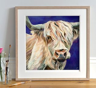 Highland Cow open print 'Ronnie'